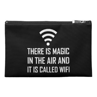 Magic In The Air Is Wifi Travel Accessory Bag