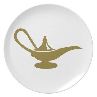 Magic lamp party plates