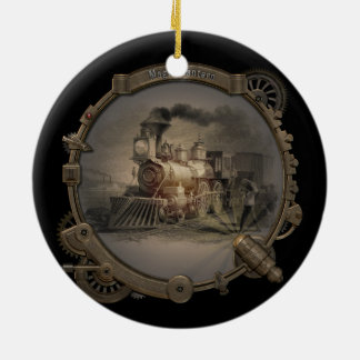 Magic Lantern - Steampunk Style Frame. Ceramic Ornament