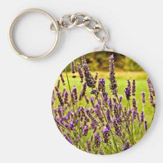 Magic Lavender Basic Round Button Keychain