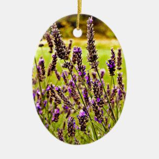Magic Lavender Ceramic Ornament