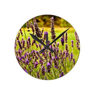Magic Lavender Round Clock