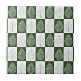 Magic Leaf on Green Ceramic Tile