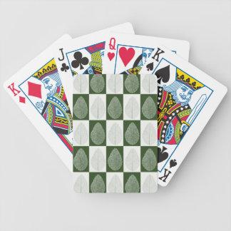 Magic Leaf on Green Poker Deck