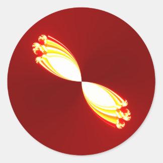 magic light tulips classic round sticker