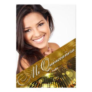 Magic Lights Photo Quinceanera - gold Announcements