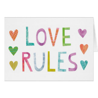 Magic Love Rules with Hearts Card