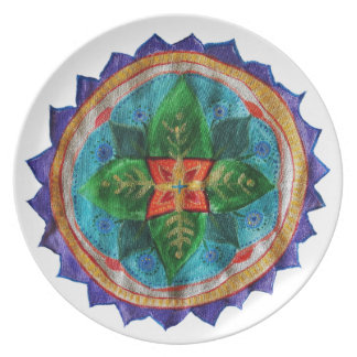 Magic Mandala Melamine Plate