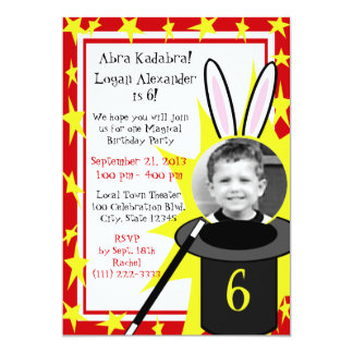 "Magic Me Birthday 5"" X 7"" Invitation Card"
