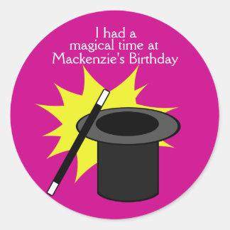 Magic Me Magician's Hat Classic Round Sticker