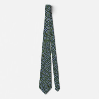 Magic Metal Foulard Satin Pattern Tie