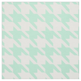 Magic Mint and White Houndstooth Pattetrn Fabric