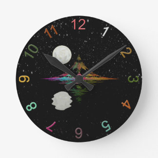 Magic Mountain Round Clock