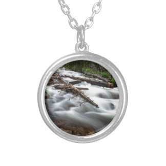 Magic Mountain Stream Silver Plated Necklace