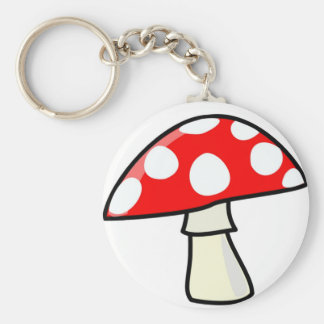 Magic Mushroom Basic Round Button Keychain