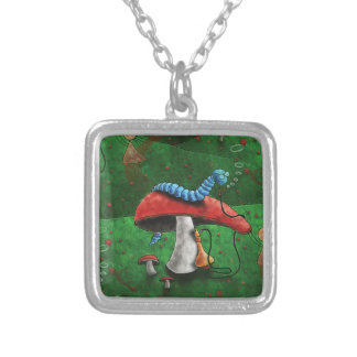 Magic Mushroom Silver Plated Necklace