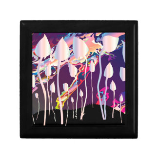 Magic Mushrooms Jazz Background Gift Box