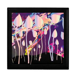 Magic Mushrooms Jazz Background Keepsake Boxes