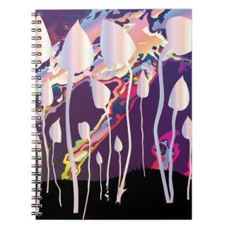 Magic Mushrooms Jazz Background Notebooks
