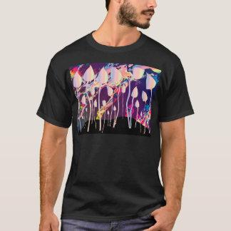 Magic Mushrooms Jazz Background T-Shirt