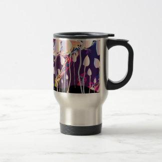Magic Mushrooms Jazz Background Travel Mug