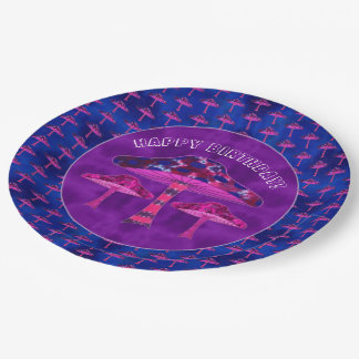 Magic Mushrooms Paper Plate