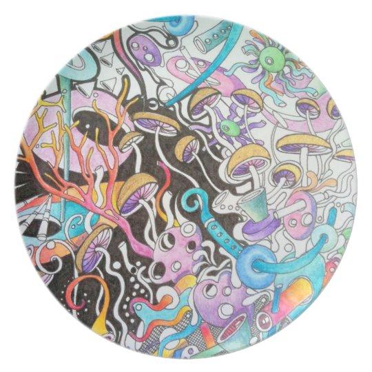 Magic Mushrooms Plate