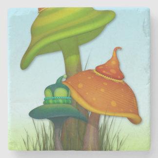 Magic Mushrooms Stone Coaster