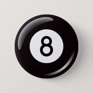 Magic number 8 pool ball button - billiards