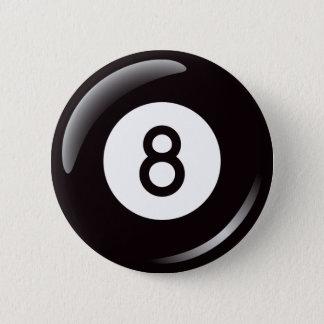 Magic number 8 pool ball button - billiards