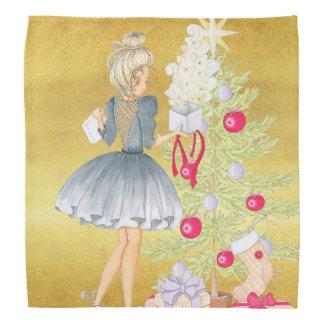 Magic of Christmas - Blonde Decorating A Tree Bandana
