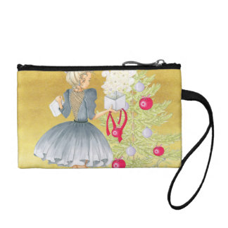 Magic of Christmas - Blonde Decorating A Tree Coin Purse