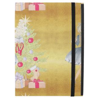 "Magic of Christmas - Blonde Decorating A Tree iPad Pro 12.9"" Case"