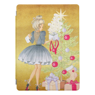 Magic of Christmas - Blonde Decorating A Tree iPad Pro Cover