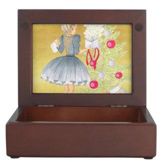 Magic of Christmas - Blonde Decorating A Tree Keepsake Box