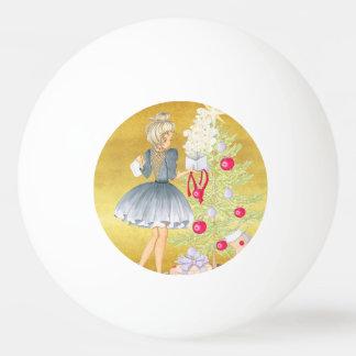 Magic of Christmas - Blonde Decorating A Tree Ping Pong Ball