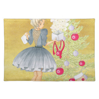 Magic of Christmas - Blonde Decorating A Tree Placemat