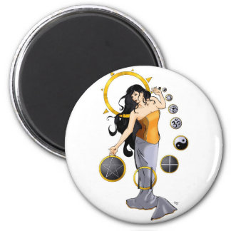 Magic of Religion 2 Inch Round Magnet