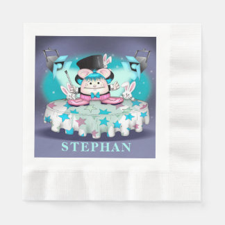MAGIC PET CARTOON Coined Luncheon Paper Napkins