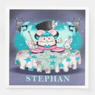 MAGIC PET CARTOON Standard Dinner Paper Napkins