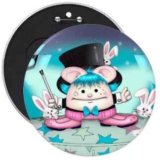 MAGIC PET CUTE CARTOON   Button Colossal, 6 Inch