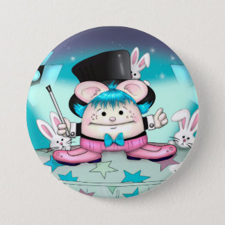 MAGIC PET CUTE CARTOON   Button Large, 3 Inch