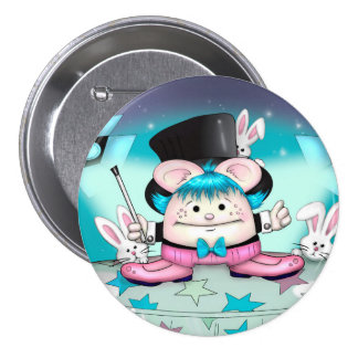 MAGIC PET CUTE CARTOON   Button Large, 3 Inch