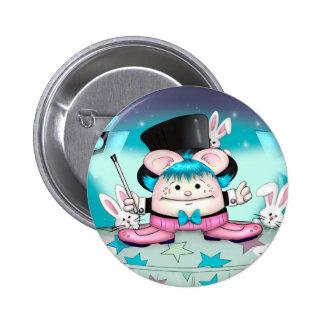 MAGIC PET CUTE CARTOON   Button Standard, 2¼ Inch