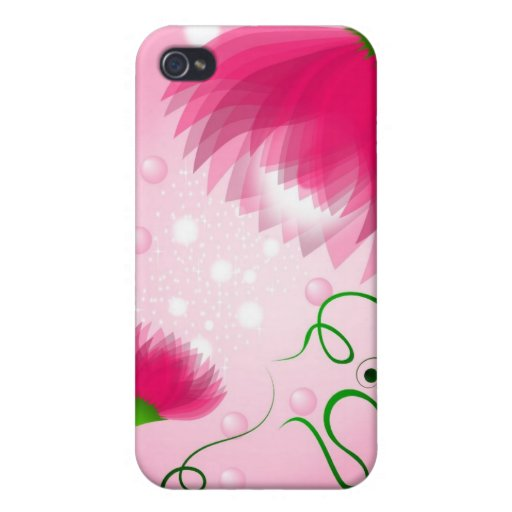 Magic Pink mum and baby flower I-phon  iPhone 4 Covers