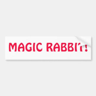Magic Rabbit Bumper Sticker