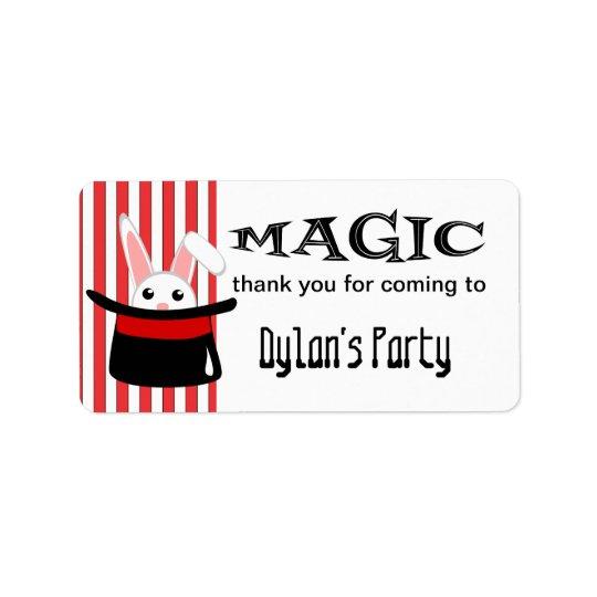 Magic Rabbit in a Hat Label