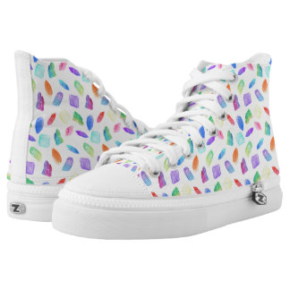 Magic Rainbow Crystals Colorful Crystal Gems Stone High Tops
