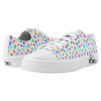 Magic Rainbow Crystals Colorful Crystal Gems Stone Low-Top Sneakers