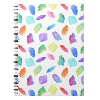 Magic Rainbow Crystals Colorful Crystal Gems Stone Notebooks